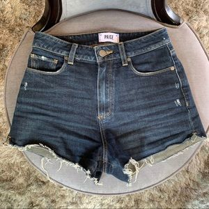 Paige High Waisted Cut Off Jean Shorts